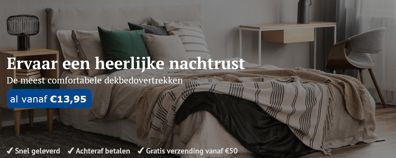 Comfortabele dekbedovertrek kopen op Slaapverkoop.nl