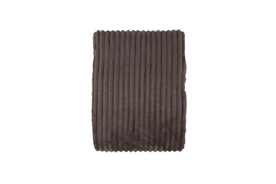 Rib Flanel Blanket Taupe