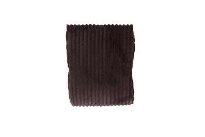 Rib Flanel Blanket Donker Bruin