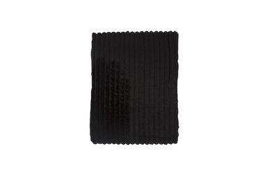 Rib Flanel Blanket Zwart