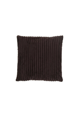 Rib Flanel Cushion Cover Donker Bruin