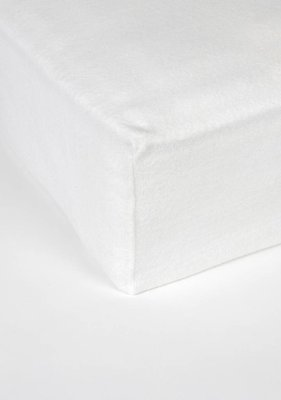 Mp Pc Molton Fitted Sheet Wit