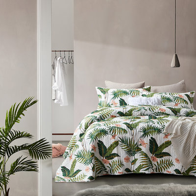 Bedsprei Botanical White