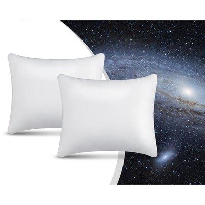 Swiss Night NASA kussens - 2 stuks kussen - Traagschuim - 50x60 - Wit