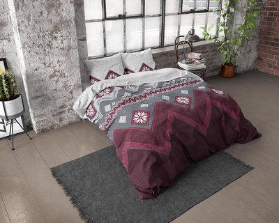 Dreamhouse Flanel Nordic Dekbedovertrek Rood Flanel