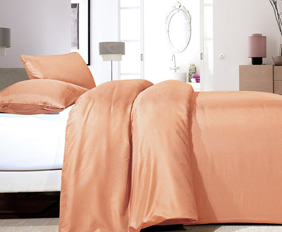 Zensation Satin Point Pastel Orange Dekbedovertrek Micropercal