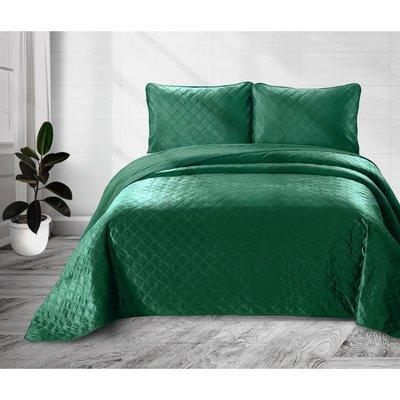 Velvet Classico Green Bedsprei