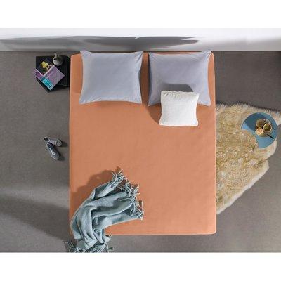Hoeslaken Jersey 135 gr. Pastel Orange