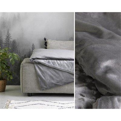 Swiss Night - Verzwaringsdeken + Velvet Hoes - 6 kg - 80x120 cm - Antraciet