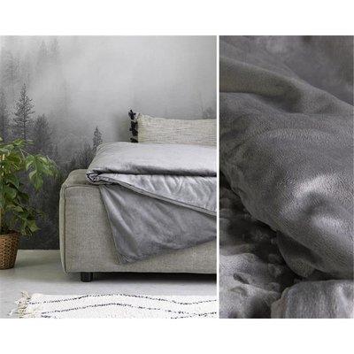 Swiss Night - Verzwaringsdeken + Velvet Hoes - 7kg - 150x200 cm - Antraciet