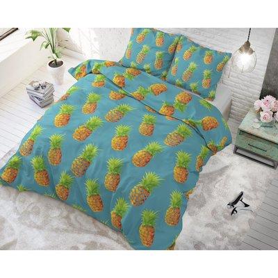 Sleeptime Pineapples Blue dekbedovertrek Katoen Blended