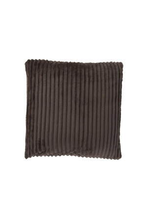 Rib Flanel Cushion Cover Taupe