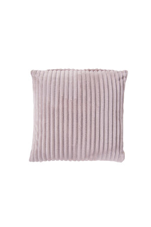 Rib Flanel Cushion Cover Roze