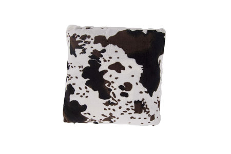 Cow Printed Coral Fleece Cushion Cover