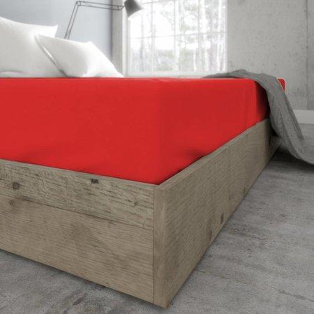 Hoeslaken Jersey Matras Rood 30 cm Hoekhoogte