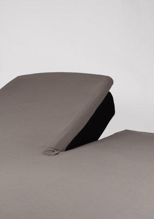 Hoeslaken Splittopper Jersey Taupe 15 cm Hoekhoogte
