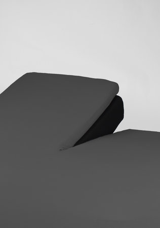 Hoeslaken Splittopper Jersey Antraciet 15 cm Hoekhoogte