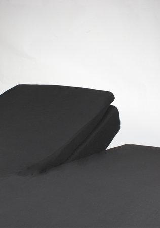 Hoeslaken Splittopper Jersey Zwart 15 cm Hoekhoogte