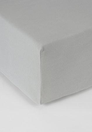 Hoeslaken Double Jersey Interlock Matras L Grijs 40 cm Hoekhoogte
