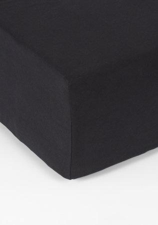 Hoeslaken Double Jersey Interlock Matras Zwart 40 cm Hoekhoogte