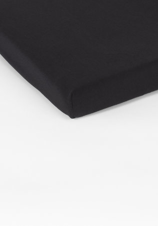Hoeslaken Double Jersey Interlock Topper Zwart 17 cm Hoekhoogte