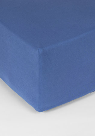 Hoeslaken Double Jersey Interlock Matras Hemelsblauw 40 cm Hoekhoogte