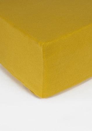 Hoeslaken Double Jersey Interlock Matras Geel 40 cm Hoekhoogte