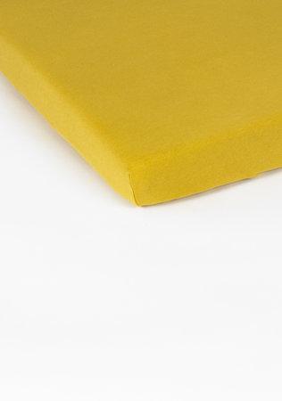 Hoeslaken Double Jersey Interlock Topper Geel 17 cm Hoekhoogte