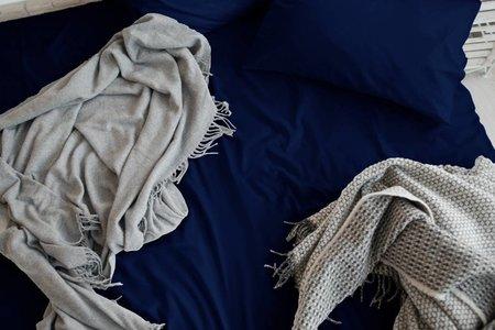 Kussensloop Cotton Satijn Blauw