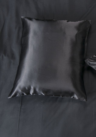 Kussensloop Beauty Satijn Zwart (Per Paar)