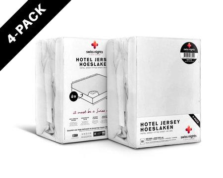 Hoeslaken 4 pack Hotel Jersey White