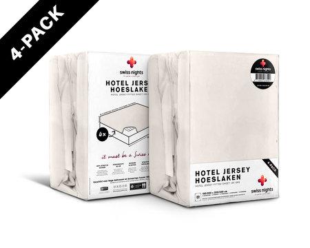 Hoeslaken 4 pack Hotel Jersey Cream