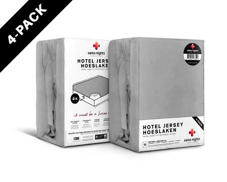 Hoeslaken 4 pack Hotel Jersey Grey
