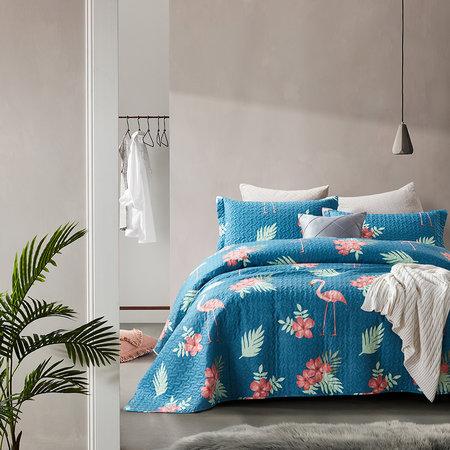 Bedsprei Flamingo Blue