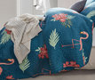 Bedsprei Flamingo Blue