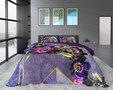 Dreamhouse Kannieta Purple Dekbedovertrek Katoen satijn